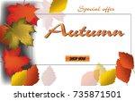 autumn calligraphy. seasonal...   Shutterstock .eps vector #735871501
