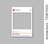 social network vector photo... | Shutterstock .eps vector #735875101