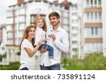 cute little girl smiling...   Shutterstock . vector #735891124