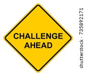 challenge ahead  yellow square... | Shutterstock .eps vector #735892171