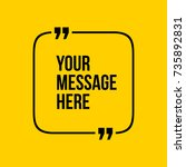innovative vector quotation... | Shutterstock .eps vector #735892831
