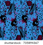 flowers art   Shutterstock . vector #735894367