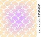 fish scale on trendy gradient... | Shutterstock .eps vector #735894985