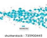 abstract blue geometric... | Shutterstock .eps vector #735900445