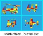 geometric toys | Shutterstock .eps vector #735901459