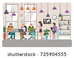vector illustration of... | Shutterstock .eps vector #735904555