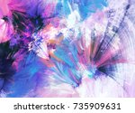 bright color fireworks.... | Shutterstock . vector #735909631