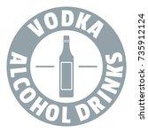 quality vodka logo. simple... | Shutterstock .eps vector #735912124