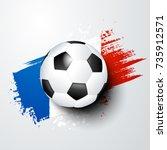 football world or european... | Shutterstock .eps vector #735912571