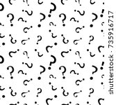 question mark seamless pattern .... | Shutterstock .eps vector #735916717