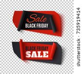 black friday sale  two abstract ...   Shutterstock .eps vector #735919414