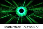 concept of electronic eye in... | Shutterstock .eps vector #735920377