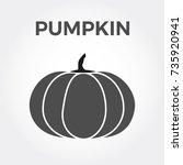 halloween isolated pumpkin in... | Shutterstock .eps vector #735920941