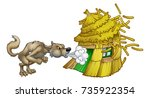 an illustration from the three... | Shutterstock .eps vector #735922354