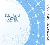 solar panel vector illustration....   Shutterstock .eps vector #735927724