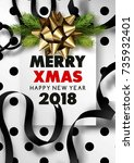 merry christmas or happy new...   Shutterstock .eps vector #735932401