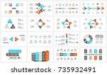 vector circle arrows... | Shutterstock .eps vector #735932491