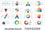 vector infographic  cycle... | Shutterstock .eps vector #735932509