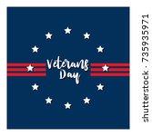 day veteran usa banner  vector... | Shutterstock .eps vector #735935971