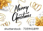 christmas. greeting card with...   Shutterstock .eps vector #735941899