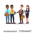 vector illustration african... | Shutterstock .eps vector #735944407