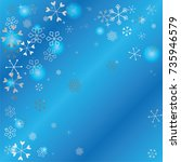 christmas background with...   Shutterstock .eps vector #735946579