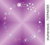 round frame or border christmas ...   Shutterstock .eps vector #735946585