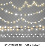 christmas lights isolated on... | Shutterstock .eps vector #735946624