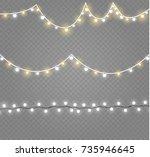 christmas lights isolated on... | Shutterstock .eps vector #735946645