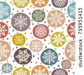 christmas seamless pattern with ...   Shutterstock .eps vector #735951415