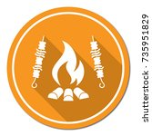 grilled kebab icon. vector... | Shutterstock .eps vector #735951829