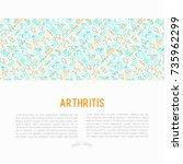 arthritis concept with thin... | Shutterstock .eps vector #735962299