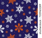 christmas sea less pattern with ...   Shutterstock .eps vector #735963289