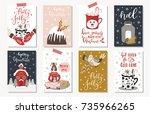 set of creative 8 journaling... | Shutterstock .eps vector #735966265