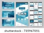 website template  one page... | Shutterstock .eps vector #735967051