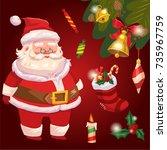 color vector cartoon comic...   Shutterstock .eps vector #735967759