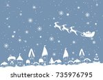 merry christmas and happy new...   Shutterstock .eps vector #735976795