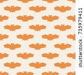 seamless pattern bat art... | Shutterstock .eps vector #735979411