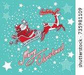 vector illustration with santa...   Shutterstock .eps vector #735981109