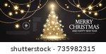 christmas tree. elegant card...   Shutterstock .eps vector #735982315
