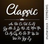 alphabet brushpen font... | Shutterstock .eps vector #735982441