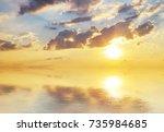 beautiful sky background.... | Shutterstock . vector #735984685