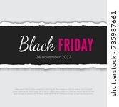 black friday vector banner.... | Shutterstock .eps vector #735987661