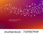 abstract molecule background ... | Shutterstock .eps vector #735987949