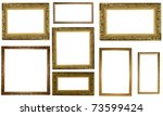 picture gold frames with a...   Shutterstock . vector #73599424