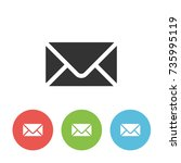 envelope vector single icon for ...