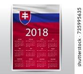 calendar of slovakia flag   Shutterstock .eps vector #735995635