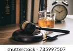 dui concept. law gavel  alcohol ...