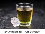 energy drinks on a vintage... | Shutterstock . vector #735999004