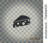 piece of cheese  vector icon | Shutterstock .eps vector #736006435